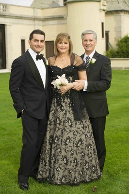 Black lace mother-of-the-bride dress