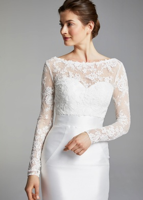 Blue Willow Bride Spring 2019 collection lace bateau long sleeve top