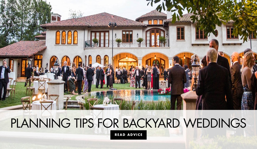 how to have a luxurious backyard wedding, plan a backyard wedding, tips for a backyard wedding