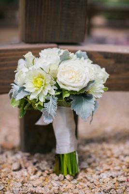 white flowers bridal bouquet arizona desert wedding