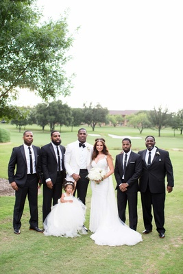 heidi mueller, philadelphia eagles demarco murray with family after wedding