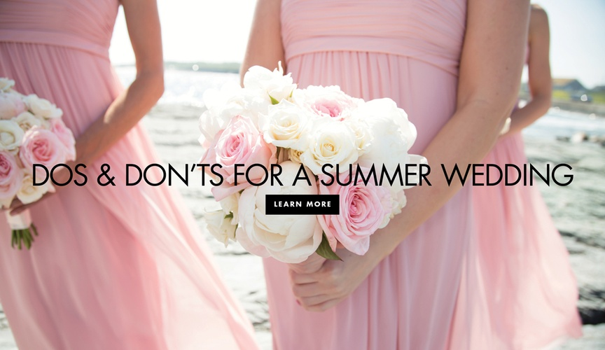 summer wedding dos and don'ts, outdoor summer wedding preparation tips
