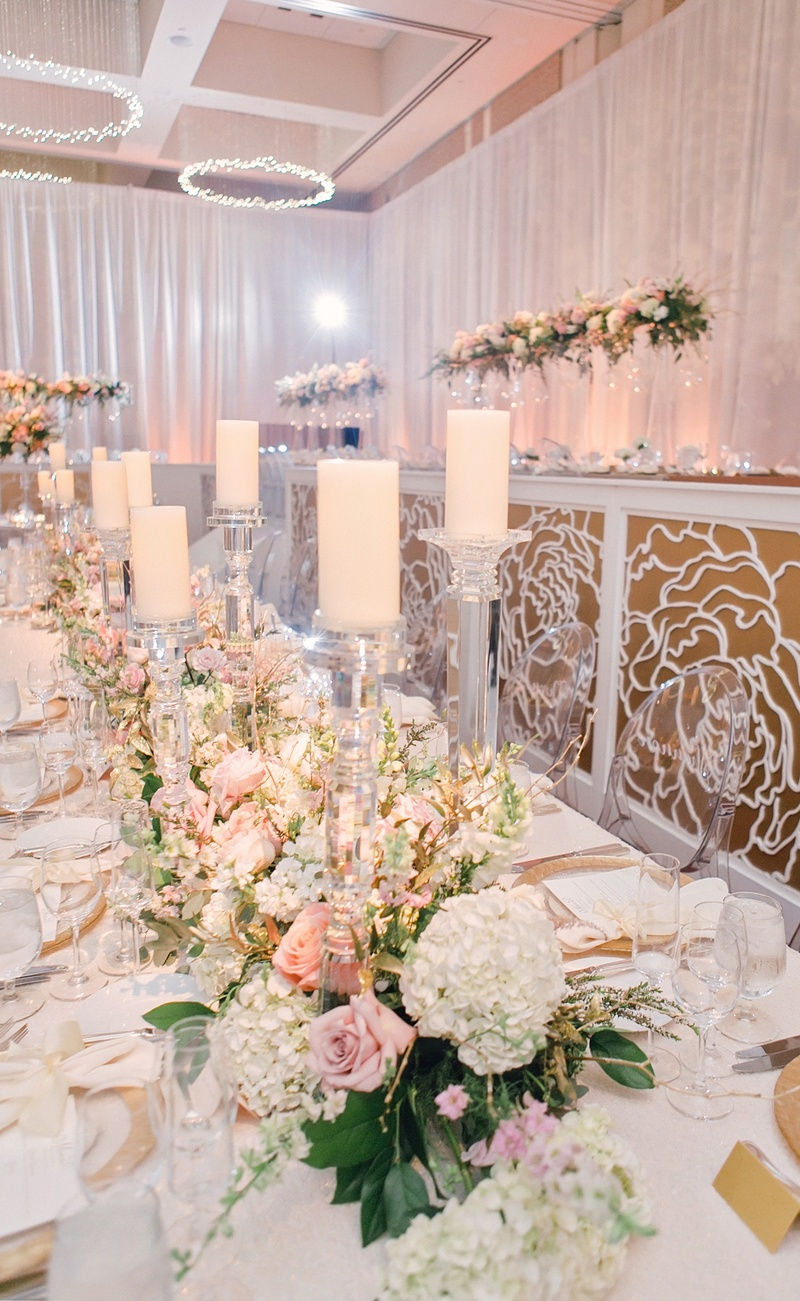 Reception D 233 Cor Photos Long Table With Floral Amp Candle