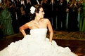 Big bridal gown on dance floor