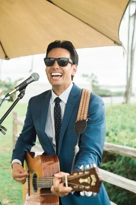 Kevin Miso guitarist entertainment for hawaii destination wedding montage kapalua bay