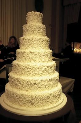 Simple seven layer white cake