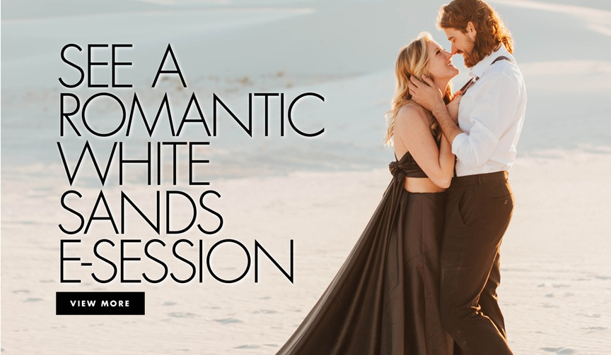 See a romantic white sands national monument e-session engagement shoot photos in new mexico boho