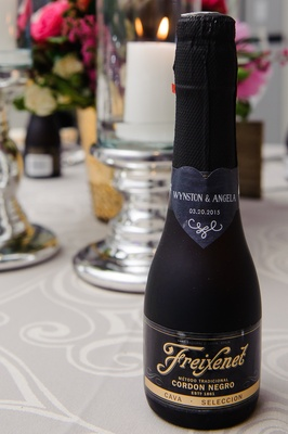 Freixenet champagne bottle with cute sticker