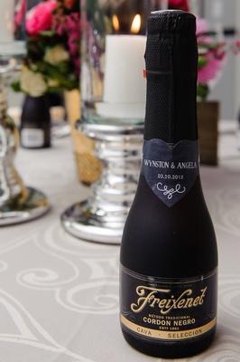 Freixenet champagne bottle with cute sticker