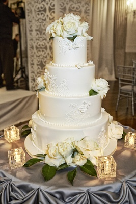 elegant all white wedding cakes ballroom ceremony reception in chicago illinois 13954