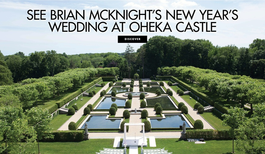 See Brian McKnight and Leilani Maria Mendoza's wedding details at Oheka Castle