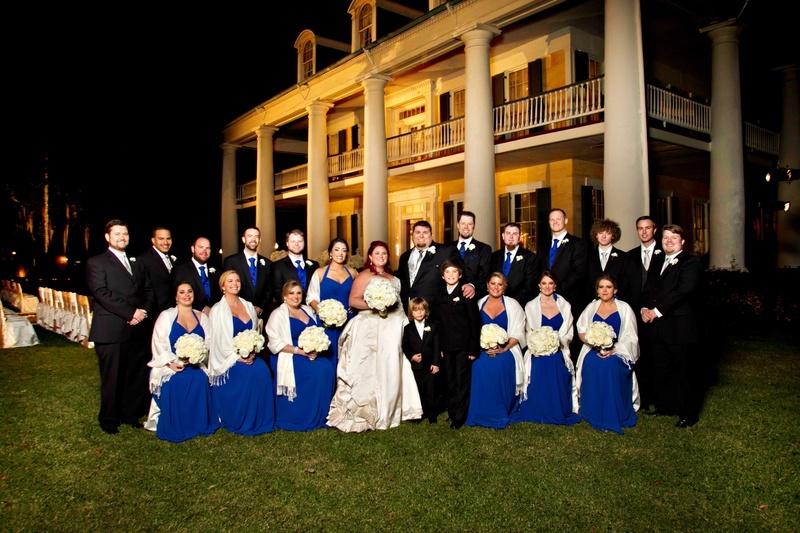 Guests & Family Photos - Royal Blue Bridesmaid Dresses with Shawls ...