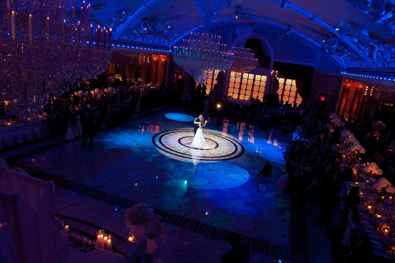 Bride and groom's first dance at The Venetian, NJ