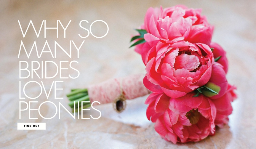 Why so many brides love peonies and how to incorporate them into your wedding day