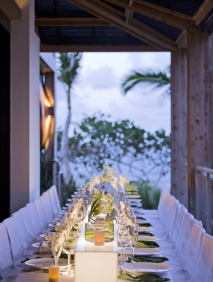 White and green reception at W Retreat & Spa, Vieques Island