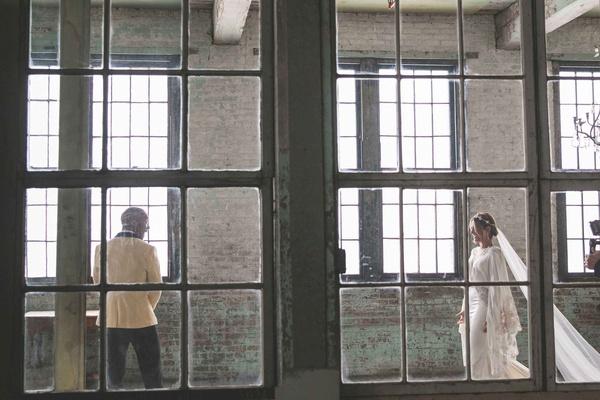 pia toscano american idol jimmy ro smith jennifer lopez wedding new york city loft center dress veil