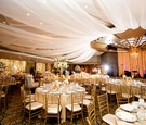 Arizona Biltmore dinner service with gold chairs