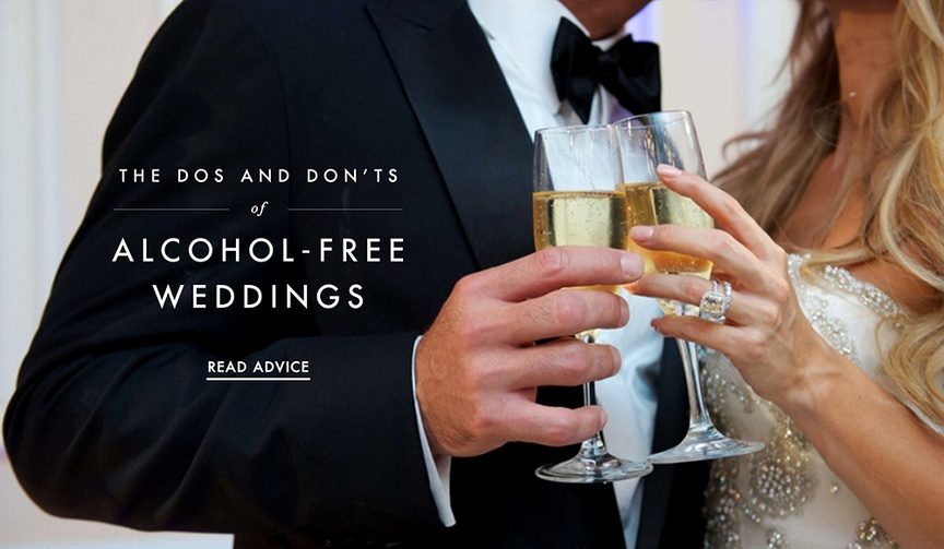 Should you host a dry wedding? How you can cut down on alcohol costs.