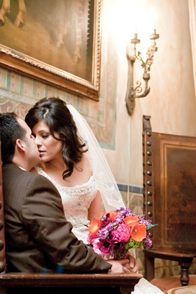 Bride and Groom portraits at Hotel Figueroa wedding in Los Angeles CA