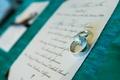Couple's wedding band and diamond ring