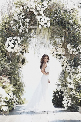 Galia Lahav low-back lace wedding dress