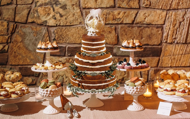 Cakes & Desserts Photos - Rustic Dessert Table - Inside Weddings