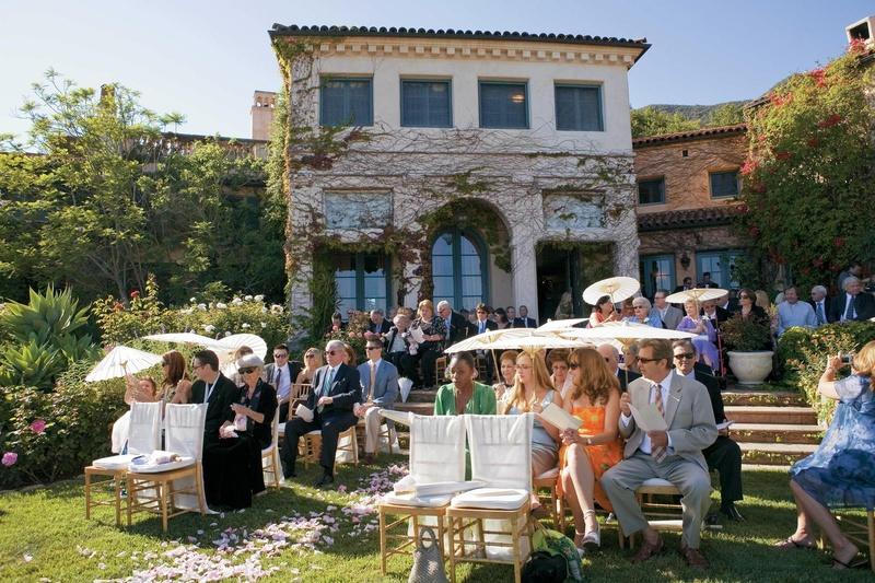 Home of Jeff Bridges outdoor wedding