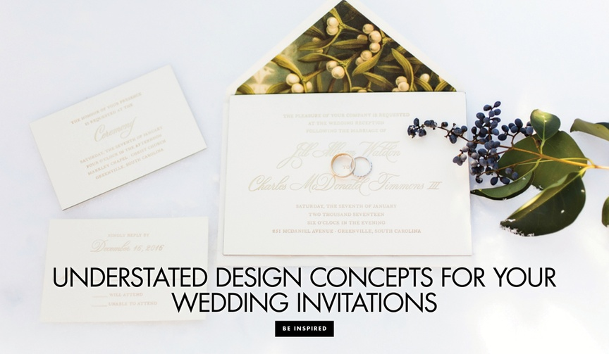 wonderfully simple understate invitation suite designs wedding stationery couple guests