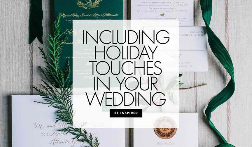 how to include holiday touches in your wedding ceremony and reception holiday wedding ideas