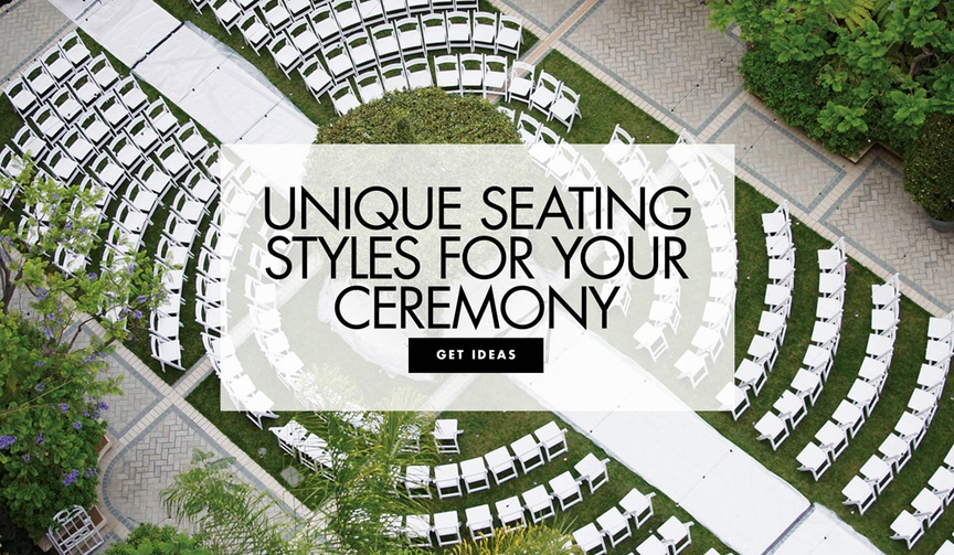 Unique seating styles for your wedding ceremony