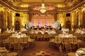 The Plaza wedding reception room shot with head table