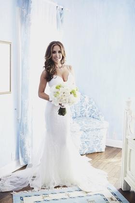 Galia Lahav lace wedding dress with fitted bodice