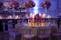 chost chairs with purple cushions, purple wedding color palette