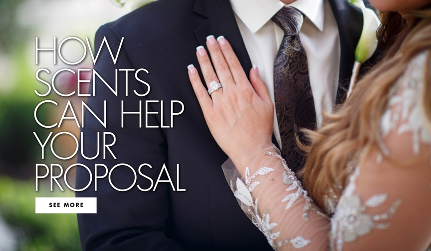 how to use scents and fragrances when planning your perfect proposal