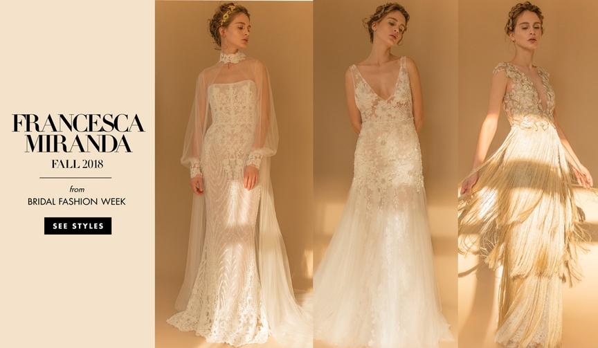 Bridal Fashion Week Francesca Miranda Fall 2018