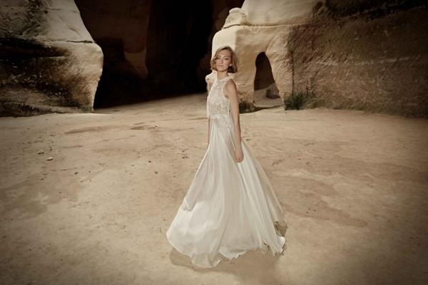 Limor Rosen 2017 Sara wedding dress sleeveless with silk organza skirt Tribal Collection