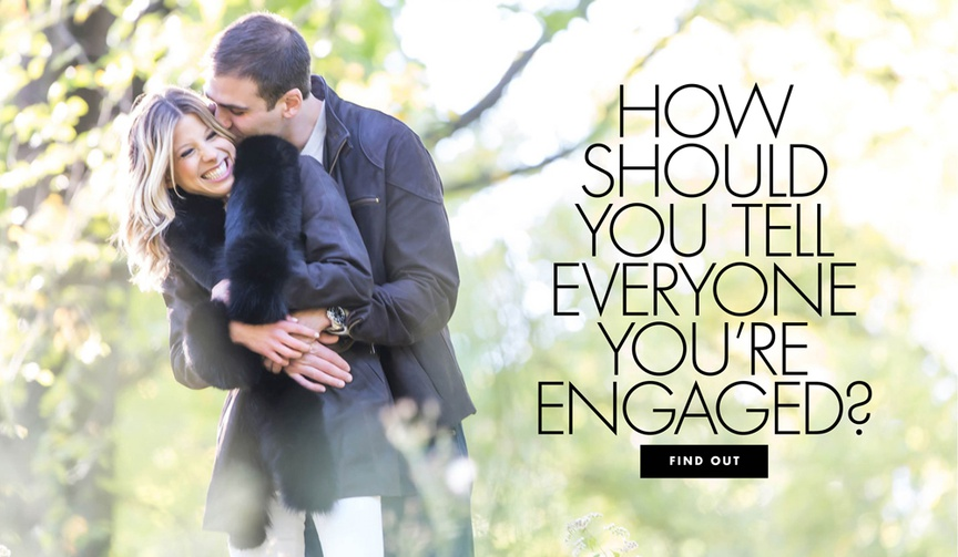 How should you tell everyone you're engaged engagement announcement ideas