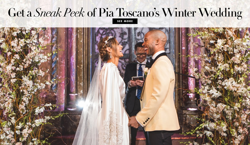 Pia Toscano and Jimmy R.O. Smith wedding details sneak peek winter wedding in New York City