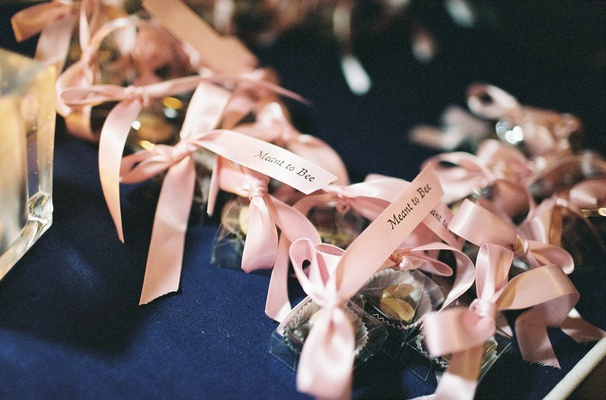 Burdick's Chocolates with pink ribbons