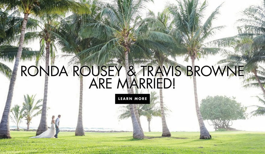 Ronda Rousey and Travis Browne are married hawaii wedding photos