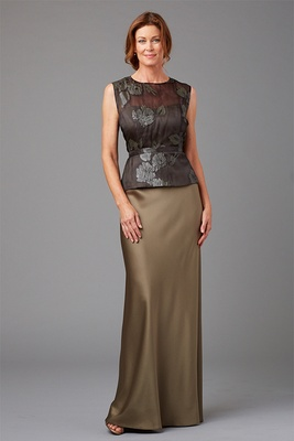 Siri Spring 2016 mother of the bride dress peplum top and floor length long Olympia skirt