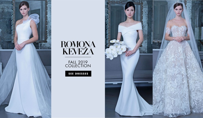 Romona Keveža fall 2019 bridal collection wedding dress, bridal fashion week