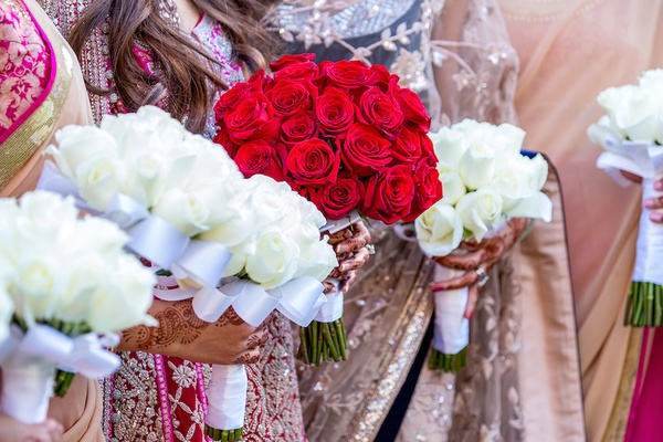 Indian Wedding with Vibrant Colors and Gorgeous Red Roses - Inside ... a6707be28