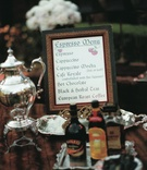 Coffee bar menu with Bailey's and Kahlua