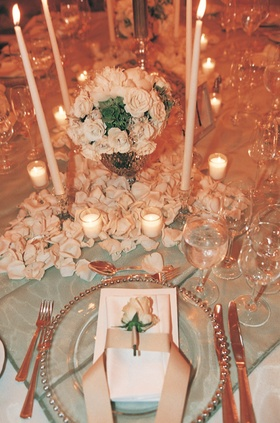 Wedding Reception Decor and Wedding Place Settings