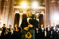 wedding reception scottish tradition bagpiper introducing bride and groom at reception newlyweds