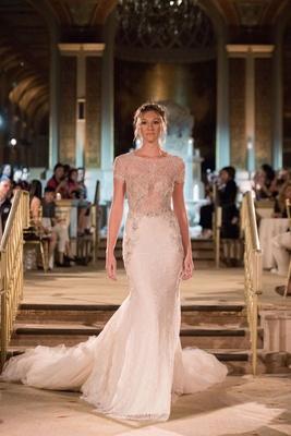 Idan Cohen Fall Winter 2018 Empire of Love wedding dress lace gown short sleeve long train