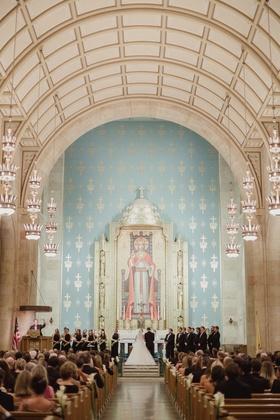 christ the king catholic church dallas, light blue altar