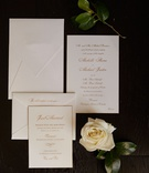 wedding invitation white stationery with gold calligraphy envelope invitation