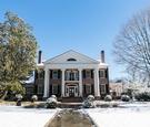 southern plantation home wedding, backyard southern wedding in winter